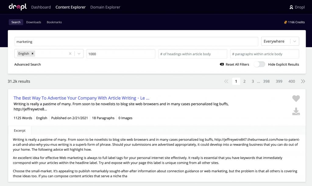 Content Explorer